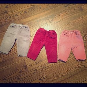 COPY - 3 baby girl pants